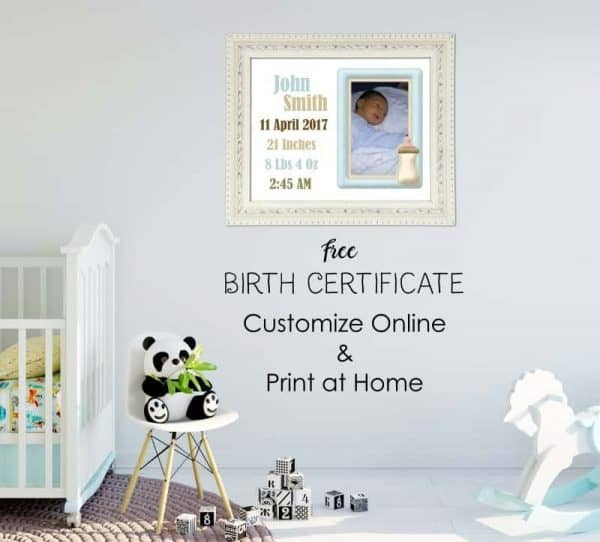 Free Customizable Birth Certificate Template Many designs