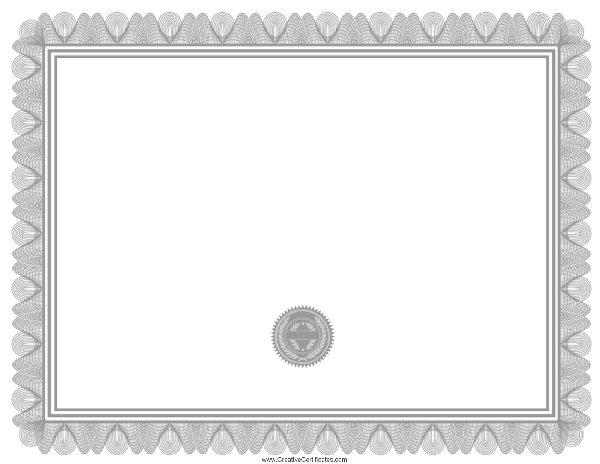 blank certificate – Free Blank Certificates