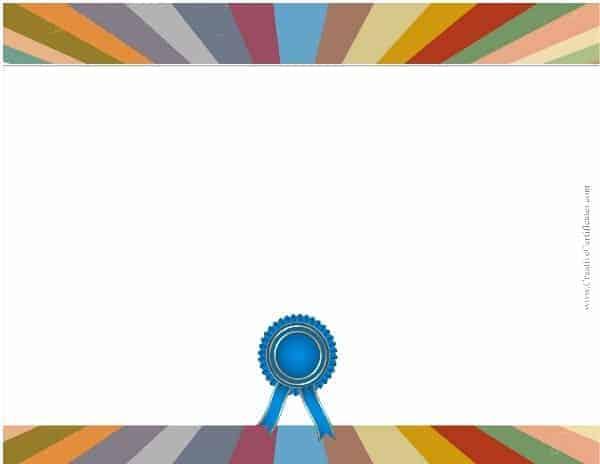 Free Blank Certificate - Print blank or customize online free - blank certificate template