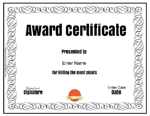 Funny Awards - Silly Certificates Awards Templates
