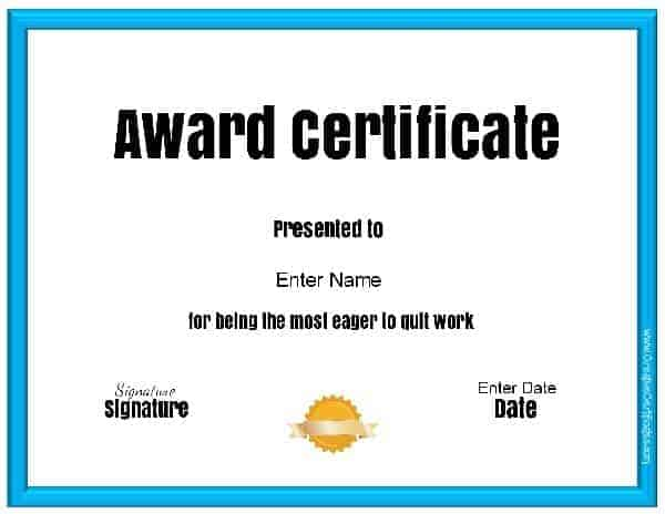 Funny Awards - best of free funny employee awards printable certificates