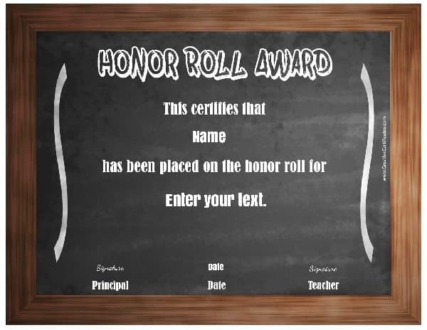 Honor Roll Templates 9 printable honor roll certificate templates - free printable honor roll certificates