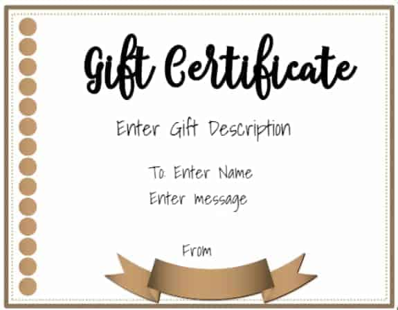 Free online gift certificate maker No registration required