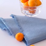 Fringed hemp and organic cotton napkins - perfect for a thoughtful hostess gift.