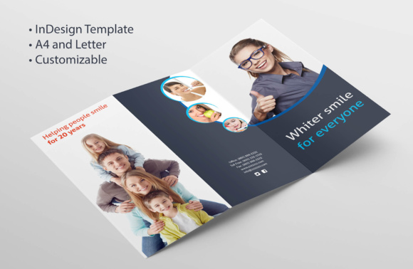 Adobe InDesign Tri-fold Brochure Template Graphic by raya0706 - trifold indesign template