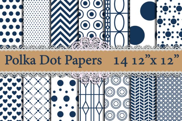 Blue Polka Dot digital paper,POLKA DOT PATTERN, Printable patterns