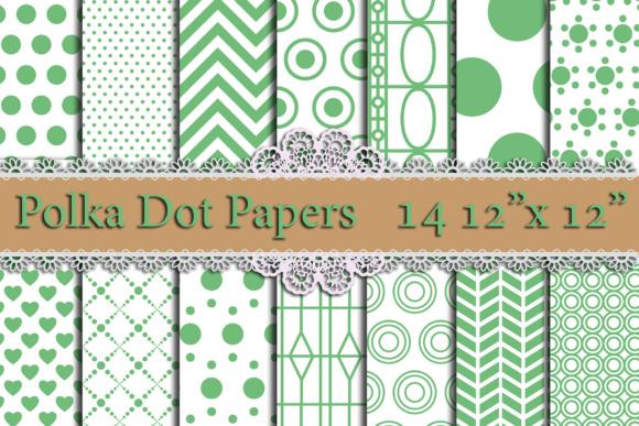 Green Polka Dot digital paper,POLKA DOT Pattern Printable patterns