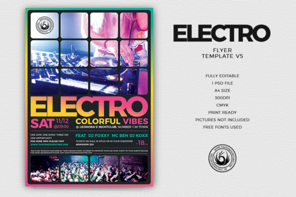 Electro Flyer Template Graphic by ThatsDesignStore - Creative Fabrica - electro flyer