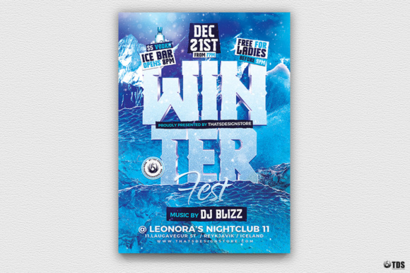 Winter Festival Flyer Template Graphic by ThatsDesignStore