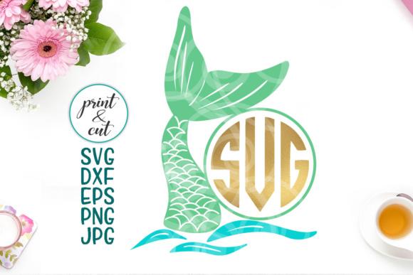 Mermaid monogram svg, mermaid tail svg, mermaid svg, monogram svg
