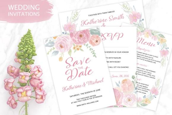 Tender Wedding Invitation Templates Graphic by switzershop