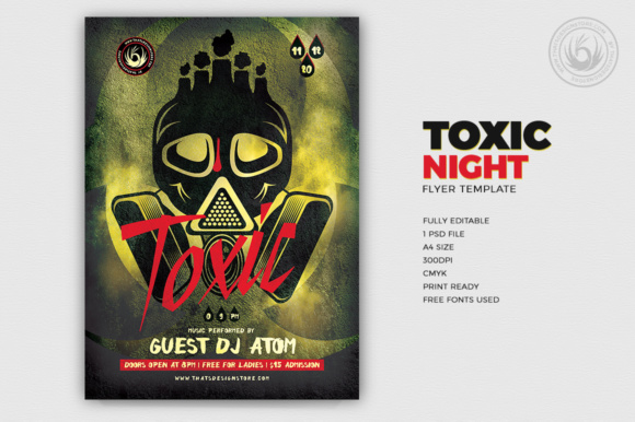 Toxic Night Flyer Template Graphic by ThatsDesignStore - Creative