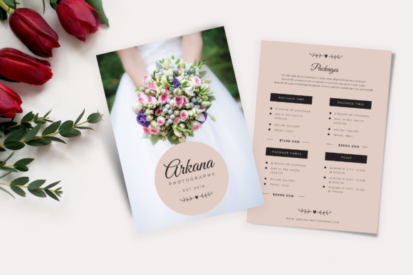 Wedding Flyer Price List Graphic by TMint - Creative Fabrica