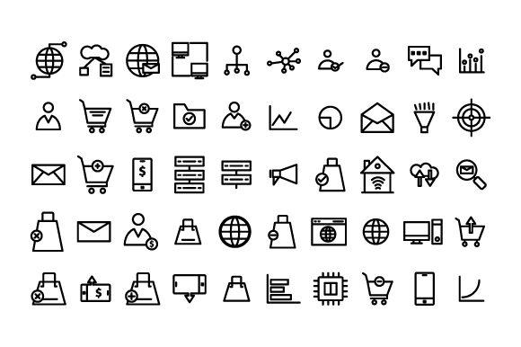 Data analysis set outline icon Graphic by rudezstudio - Creative Fabrica