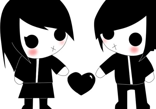 Cute Couples Holding Hands Wallpapers 25 Lovely Emo Cartoon Pictures Creativefan