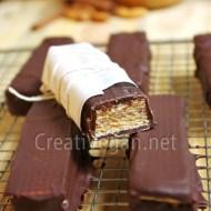 Barritas crujientes de chocolate y avellanas