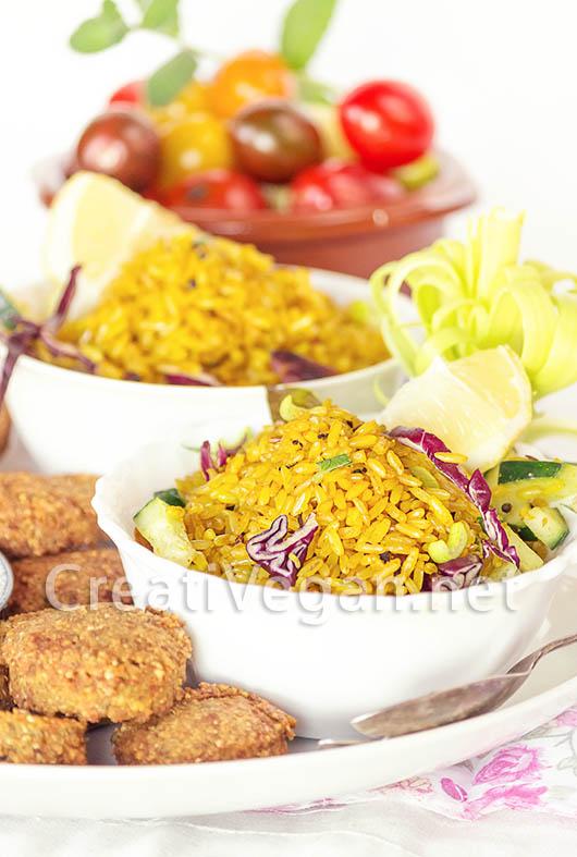 Ensalada de arroz integral al curry - Ensalada de arroz light ...