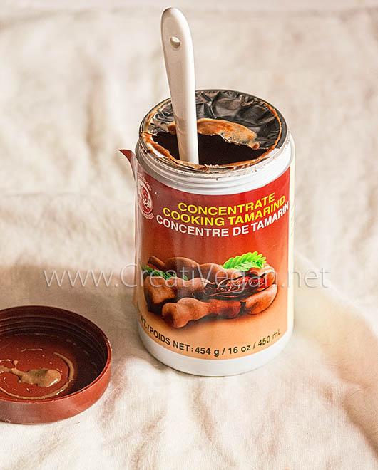 Bote de concentrado de tamarindo para cocinar