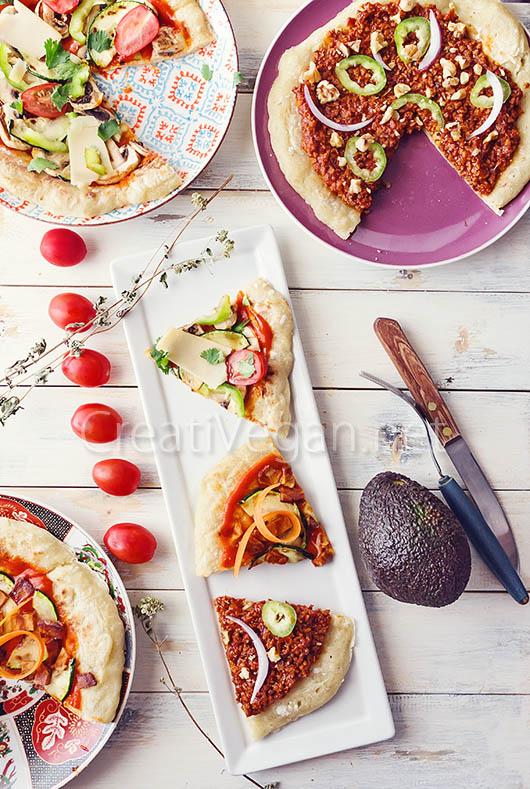 Bases de pizza sin amasado y sin horno (a la sartén)