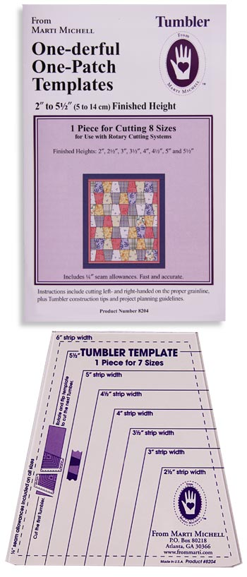 Marti Michell One-Derful One Patch Tumbler Template - tumbler template