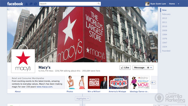 20 Amazingly Branded Company Facebook Timeline Pages Guerrilla Marketing Photo