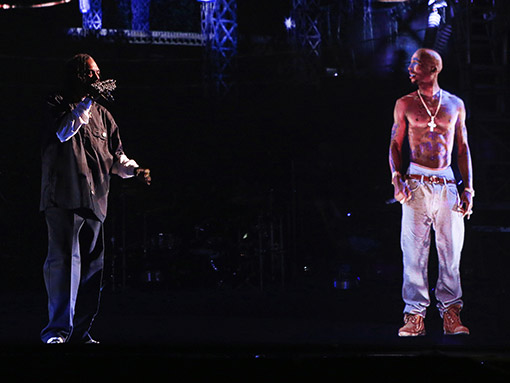 Tupac Shakur Makes an Appearance at Coachella Via Video Projection Guerrilla Marketing Photo