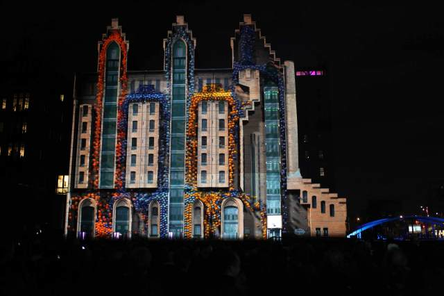 Catch the Intel 3D Ultrabook 2012 Projection Mapping Tour in Germany Guerrilla Marketing Photo