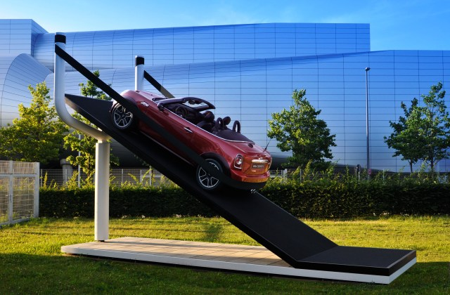MINI Places Car in Large Slingshot In Latest Buzz Marketing Campaign Guerrilla Marketing Photo