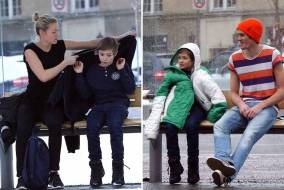 Helping Freezing Child With Coat Viral Video 5