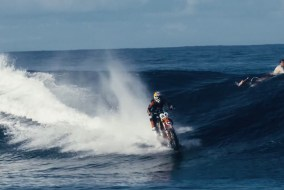 Surfing Waves on Dirt Bike