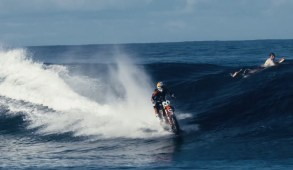 Surfing Waves on Dirt Bike