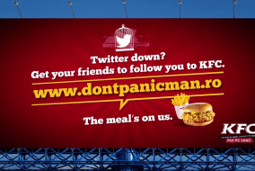 Free KFC meal in Romania when social media is down!