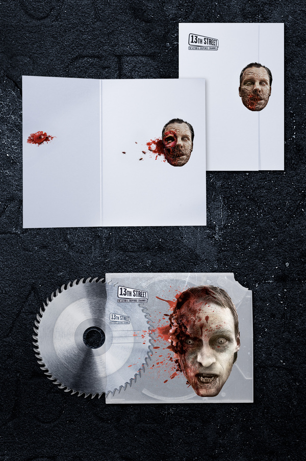 13th Street Stationery of Horror Creative Advertising Campaign Guerrilla Marketing Photo