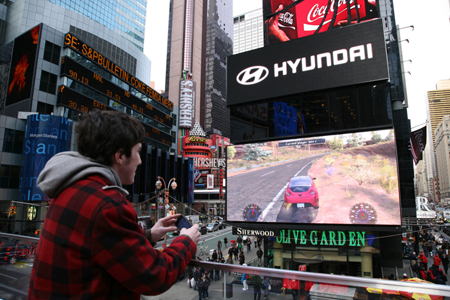 Worlds Largest iPhone Controlled Racing Game Guerrilla Marketing Photo