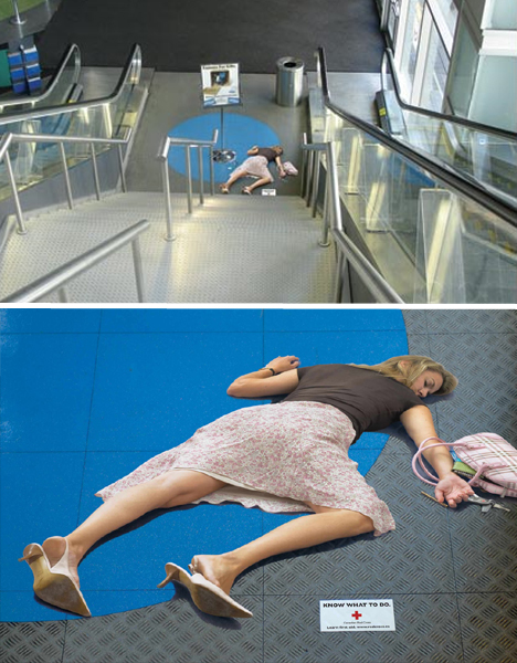 Stupendous Steps: 15 Great Escalator & Stair Ambient Ads Guerrilla Marketing Photo