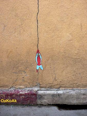 25 Creative Street Art Examples by OaKoAk Guerrilla Marketing Photo