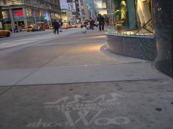 WaterStencils™   Walk This Way to Woo Guerrilla Marketing Photo