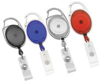 10 CARABINER RETRACTABLE ID BADGE HOLDER-FREE SHIPPING