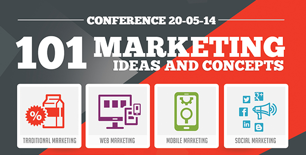 101 Marketing Ideas  Concepts Conference Plans Push For More