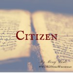 Word Nerd Wednesday – Citizen