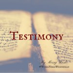 Word Nerd Wednesday – Testimony