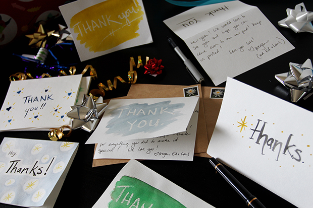 Use Watercolor to Make DIY Thank-You Cards