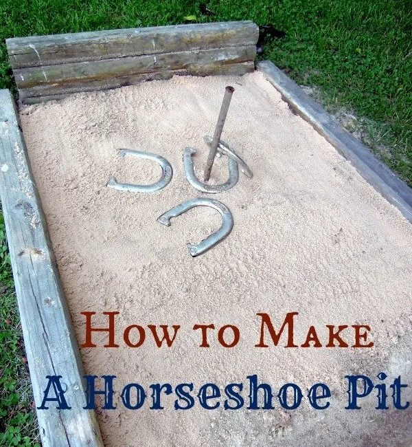 How To Build A Horseshoe Pit – {Fun Outdoor Activity for Everyone!}