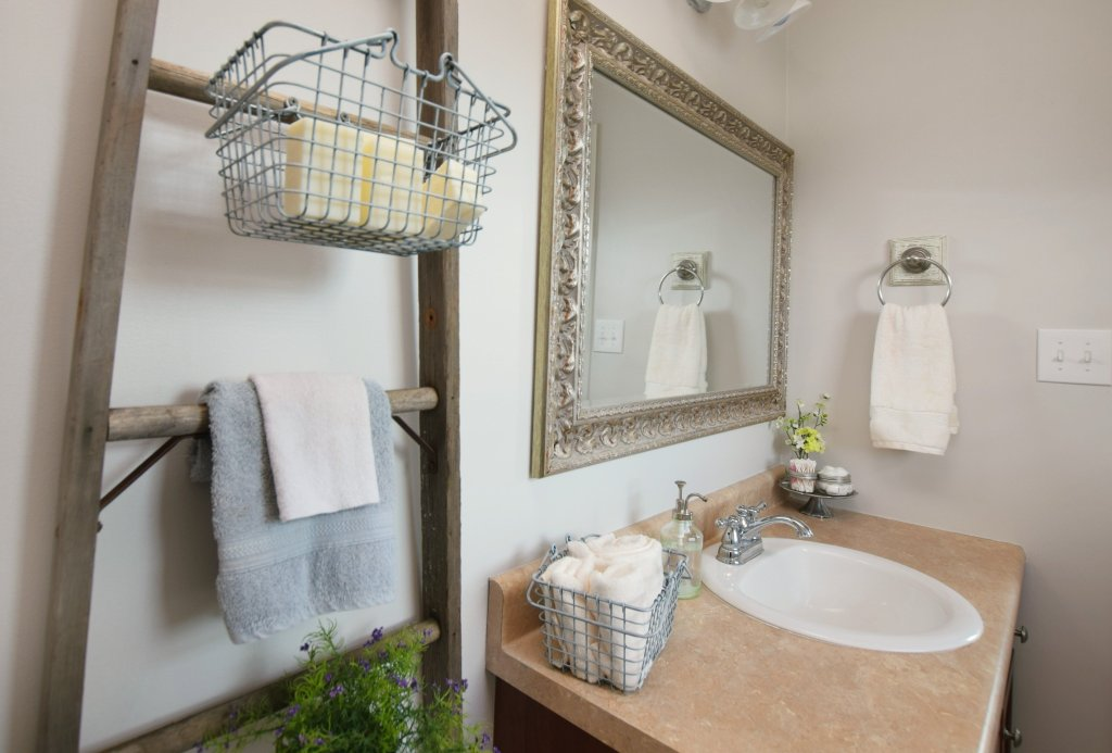 Rustic Ladders And Farmhouse Storage