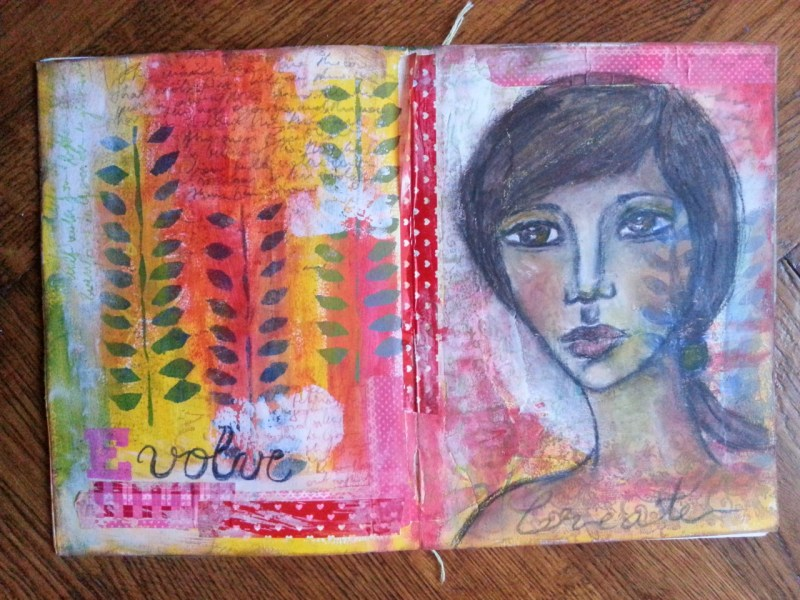 Just Play! Art Journal Page by Cristina Parus @ creativemag.ro