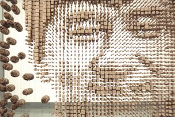 Jackie Chan Made Out of 64000 Chopsticks-3