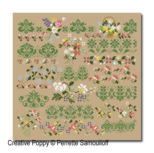 Perrette Samouiloff - Thousand-flowers border (cross stitch)