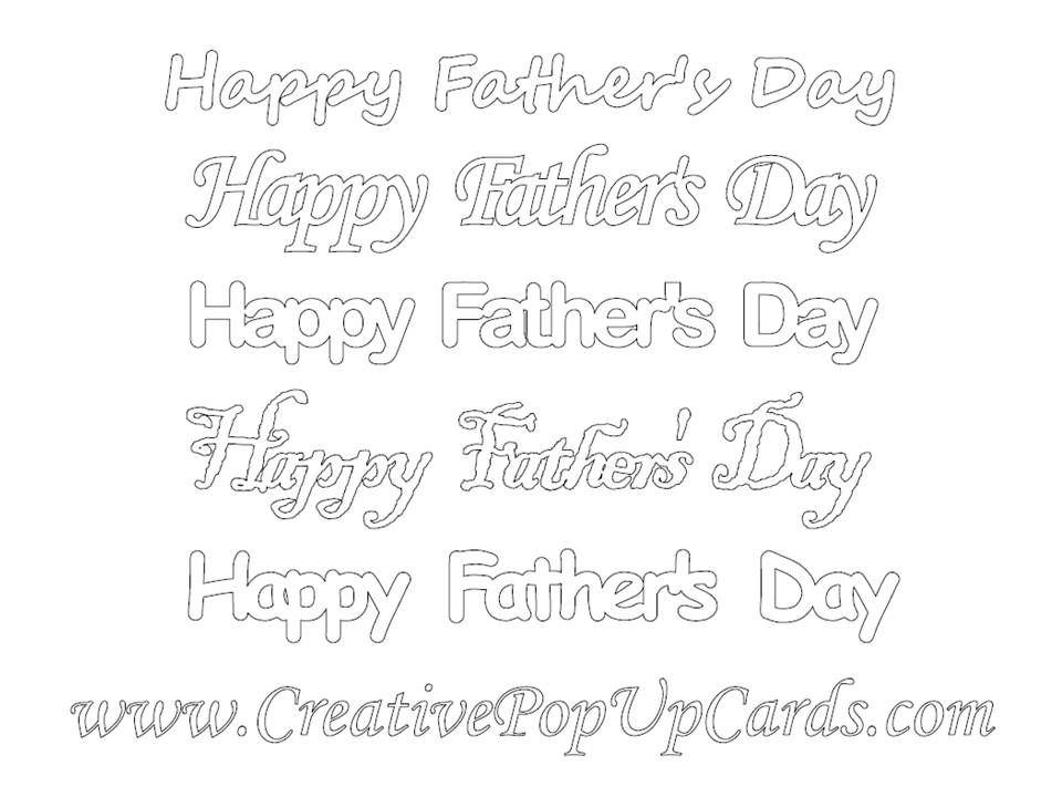 Free Happy Father\u0027s Day Template Cutting Files - Creative Pop Up Cards