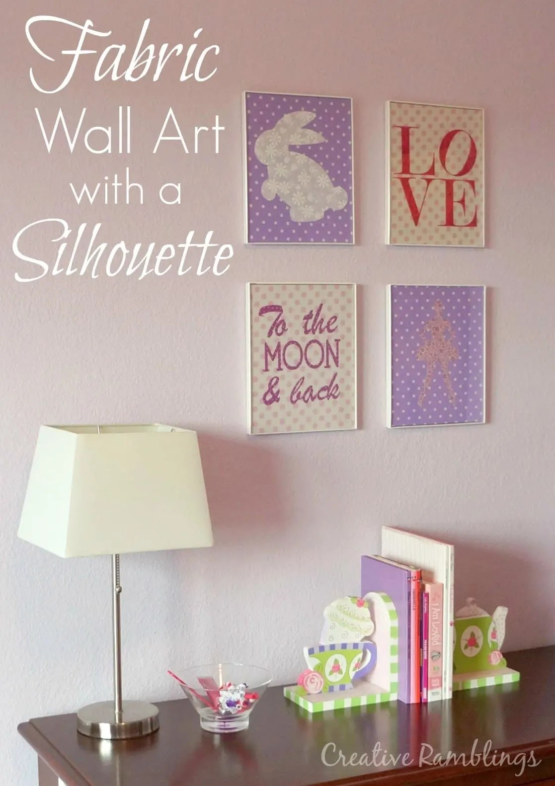 DIY Fabric Wall Art with Silhouette