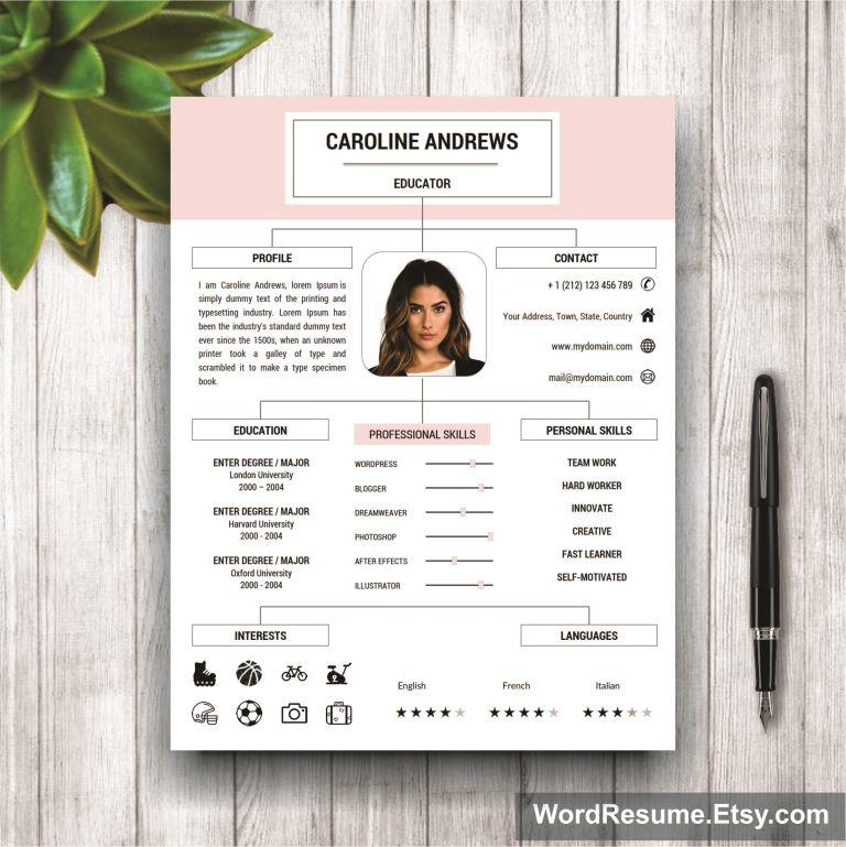 Resume Template + Cover Letter and Portfolio for MS Word - \ - portfolio resume